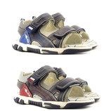 Открытые кожаные сандалии на мальчика Clibee 31-36р., 109029,109030,19