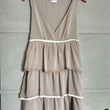 Нежное платье. не весомый сарафан. оборки. рюши. платье миди.