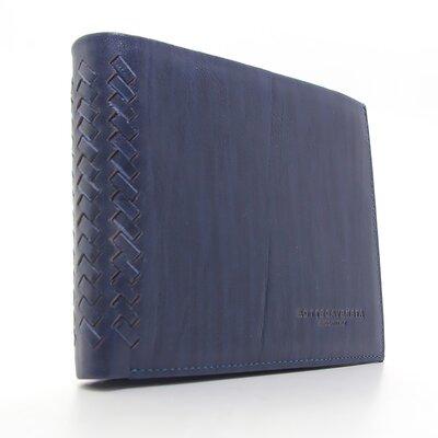 Кошелек мужской кожаный синий Bottega Veneta 1409с