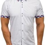 Рубашка мужская короткий рукав Белый код 122