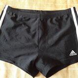 Спортивные шорты трусы чёрные Adidas р.46