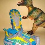 Сандалии босоножки DINOSOLES Динозавры серые 31,32 диоды