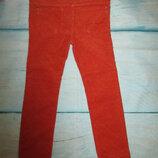 Вельветовые штанишки оранжевые в точку на девочку 36мес