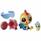 Littlest Pet Shop S1 Петушок утро B9358 C1169 Rick Chickencluck Sunny Chickencluck
