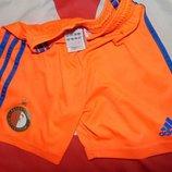 Спортивние фирменние оригинал футбольние шорти труси Adidas Феенорд .3-6 лет .