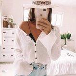 Блуза лен 42 - 44 белая