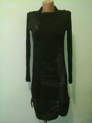 Комбинированое платье La petite, p.S-M, со стейчем, котон