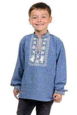 Вышиванка для мальчика Орнамен, три цвета, сорочка на мальчика, р-р 32-42