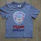 Хит 2019 Крутая футболка перевертыш, реверс в пайетки C&A на 4-6 лет