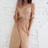 Отличный женский сарафан платье с открытыми плечами ткань софт скл.1 арт.53703