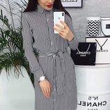 Отличное женское платье рубашка в полоску ткань штапель скл.1 арт.53698