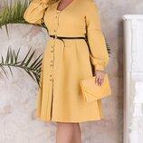 Шикарное женское платье большого размера ткань костюмка барби скл.1 арт.53693