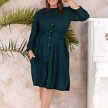 Женское платье рубашка ткань мягкий софт большие размеры яркие цвета скл.1 арт. 53691