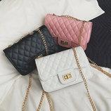 Стеганая Fashion сумка клатч на цепочке В Наличии