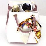 Оригинальная женская сумка на затяжке с атласной ленточкой В Наличии