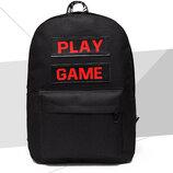 Вместительный тканевый рюкзак Play Game В Наличии