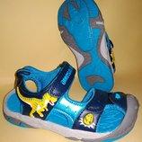 Босоножки сандалии Dinosoles 3D рисунок сине-голубой