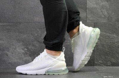 Nike Air Max 270 кроссовки мужские демисезонные белые 7811