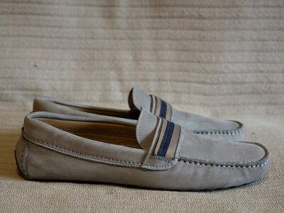Мягкие серые замшевые мокасины драйверы Zara man Испания 41 р.