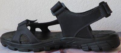 Ессо комфорт черные Кожаные мужские сандалии в стиле Экко лето 2019