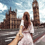 Картина По Номерам. BRUSHME СЛЕДУЙ За Мной Лондон GX22063. Закохані. Влюбленные.