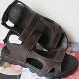 Ессо комфорт Кожаные коричневого цвета мужские сандалии в стиле Экко лето 2019