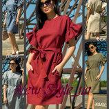 44-52, Льняные платья, Женское платье, лен, Жіноче плаття, Летнее платье,