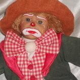 шикарная характерная кукла клоун Panre Испания оригинал клеймо 26 см