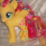шикарная большая фигурка Пони модницы Делюкс Флаттершай My Little Pony 2013 Hasbro Сша оригинал