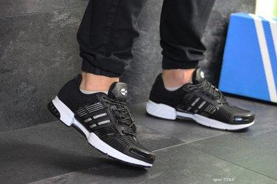 Кроссовки мужские сетка Adidas ClimaCool черные с белым