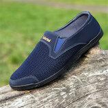 Мужские мокасины туфли летние