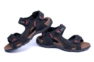 Мужские кожаные сандалии е черн. active