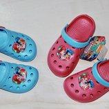 Детские кроксы на девочку дисней Disney 23р по 34р шимер и шайн