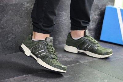 Кроссовки мужские сетка Adidas ClimaCool dark green