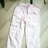 Штаны брюки бананы женские розовые