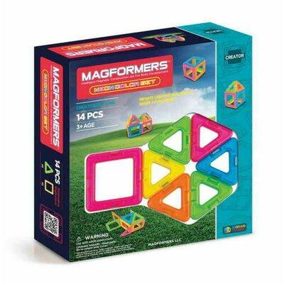 Magformers Магнитный конструктор 14 деталей неон 63001 Creator Neon Color Set