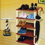 Полка для обуви пластиковая на 5 ярусов Efe Этажерка, Обувница