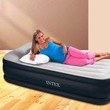 Надувная кровать Односпальная Intex 64132, 99 х 191 х 42 , встроенный электронасос