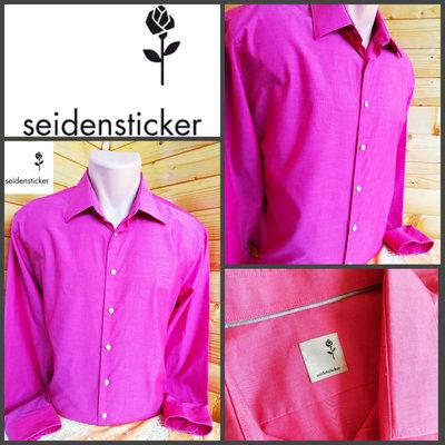 Рубашка из хлопкового текстиля немецкого бренда Seidensticker, оригинал, р.L, пр-во Германия