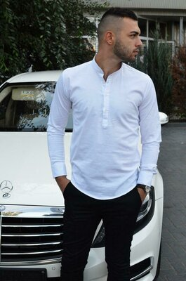 Стильная мужская рубашка 4 цвета S, M, L, XL, XXL.
