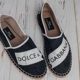Стильные мужские эспадрильи Dolce&Gabbana,много вариантов 40-44