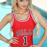 Купальник сдельный монокини Bulls 1 красный
