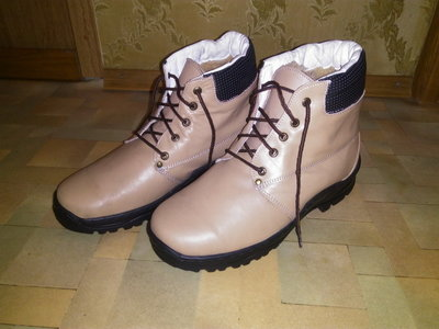 Ботинки р.43-44, натур.кожа мех зима