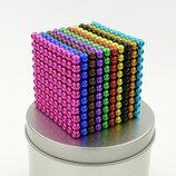 Неокуб NeoCube в боксе Silver 216 шариков цветной