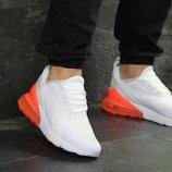 Кроссовки мужские Nike Air Max 270 white/orange