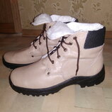 Ботинки р.44, натур.кожа мех зима