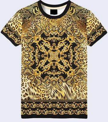 Мужская футболка 3D Узор на леопардовом фоне Большой выбор