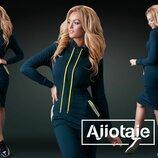 Эффектное оолегающее платье в спортивном стиле 25647 цвета