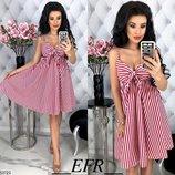 Женское летнее коттоновое платье сарафан в полоску скл.1 арт. 53723