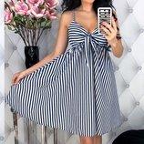 Женское летнее коттоновое платье сарафан в полоску скл.1 арт. 53722